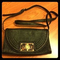 Tory Burch Handbags - Tory Burch Green Leather and Tortoise Shoulder Bag