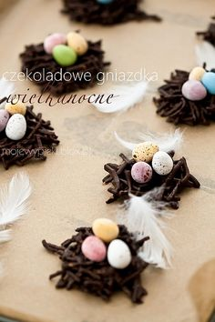 Easter choclate nests.