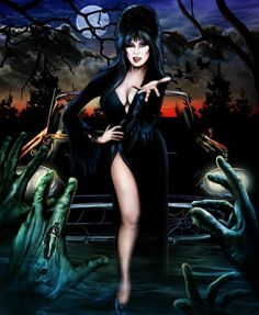Elvira: Mistress of the Dark 🕸🖤💀🖤🕸 Halloween Artwork, Halloween Pictures, Halloween 1, Dark Fantasy, Fantasy Art, Elvira Movies, Cassandra Peterson, Horror Artwork, Dark Pictures