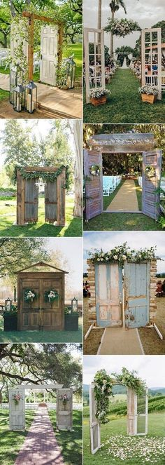 , 20 Rustic Outdoor Wedding Ceremony Entrance Ideas with Old Doors On a Budget - Oh Best Day Ever , rustic outdoor wedding ceremony entrances. Weddings 20 Rustic Outdoor Wedding Ceremony Entrance Ideas with Old Doors On a Budget - Oh Best Day Ev. Outdoor Wedding Entrance, Outdoor Wedding Decorations, Outdoor Ceremony, Outdoor Weddings, Outdoor Wedding Seating, Wedding Rustic, Wedding Entrance Decoration, Old Doors Wedding, Woods Wedding Ceremony