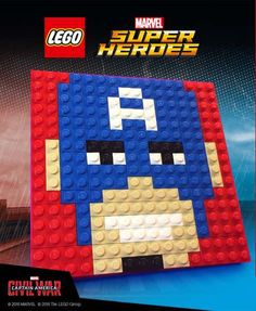 FREE LEGO Captain America Mosaic Build at LEGO Stores 8/20 **Register Now** - http://www.swaggrabber.com/?p=287394