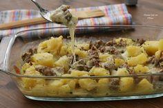 Pasticcio di patate e salciccia