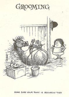 1962 Thelwell Cartoon Print Ponies Horses by printsandpastimes, £6.00