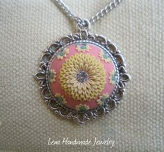 Gently Yellow Flower Pendant by Lena by StoriesMadeByHands on Etsy, $66.60