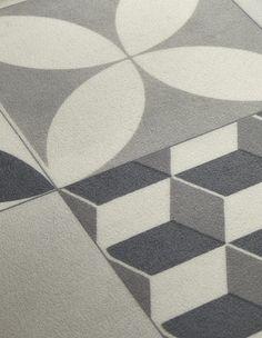 gerflor revisite le carreau ciment avec ce mod le en vinyle aux couleurs pastel gerflor. Black Bedroom Furniture Sets. Home Design Ideas