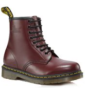 Dr Martens 1460  Color: CHERRY RED  Material: SMOOTH  Product Code: R11822600       Part of the Classic collection which is recognised worldwide for uncompromising looks, durability and comfort      8 Eyelet 1460 Boot      Smooth is the classic Dr. Martens leather; durable, with a smooth finish      Made with Goodyear welt, the upper and sole are heat-sealed and sewn together