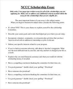 004 Scholarship Essay Format Essay tips, Essay examples, 500
