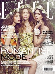 Fashion models Solveig Mørk Hansen, Julie Rode and Maria Palm Lyduch star as the cover girls for Elle Denmark April 2011 issue. Lensed by Signe Vilstrup, the model trio dons spring floral prints, accessories and light-weight ensembles on the cover image. Photoshop Fail, Fashion Magazine Cover, Fashion Cover, Magazine Covers, Rachel Bilson, Zac Efron, Maria Palm, Best Fashion Magazines, Corona Floral