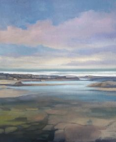 "'Evening Tide Pool, Donegal' oil on panel 17"" x 23"" Morgan Ferriter 2017 http://bit.ly/29a6rK7  Creevy, Donegal, Ireland #art #paintings #Donegal #ireland #WildAtlanticWay www.morganferriter.com"