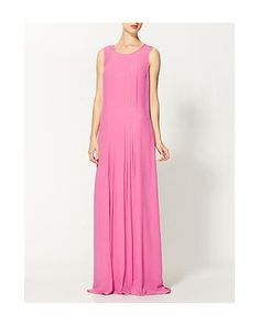 Rachel Zoe Payton Silk Pleated Shift Gown