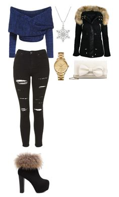 """Christmas Party"" by lizzycas on Polyvore featuring Topshop, RED Valentino and Lacoste"