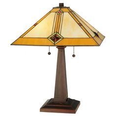 Meyda Tiffany 138110 22 h Diamond Mission Table Lamp - Products - Art Table Lamp Shades, Table Lamp Base, Lamp Bases, Light Table, Mission Table, Mission 22, Stained Glass Table Lamps, Transitional Wall Sconces, Cool Floor Lamps