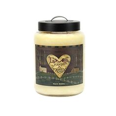 Goose Creek 26-ounce Warm Wishes Jar Candle with Loves Makes A Family Folk Art that smells as a warm buttery piece of birthday cake. Enjoy a nice c...