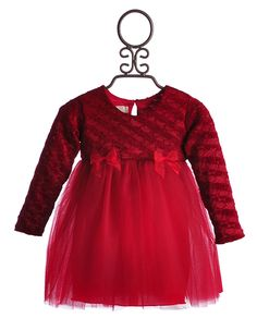 Bebemonde Red Holiday Chenille Girls Tutu Dress $59.00