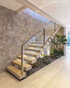 Photos and Videos Modern Stairs Photos vídeos Home Stairs Design, Stair Railing Design, Interior Stairs, Home Interior Design, Staircase Design Modern, House Front Design, Modern House Design, House Staircase, Entryway Stairs