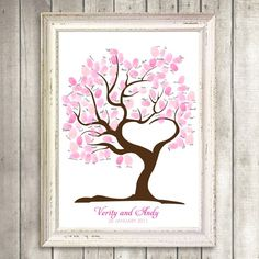 Fingerprint tree for wedding guests instead of sign in book!!!