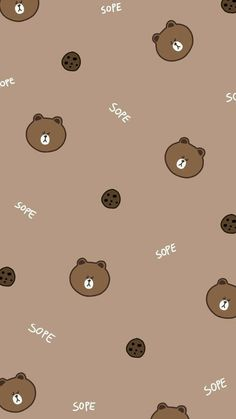 Friends Wallpaper Bear Wallpaper Line Friends Brown t