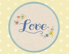 Flowery Thank You. Cross Stitch Pattern PDF File by andwabisabi