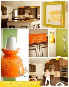 Citrus Inspired Kitchen Makeover from Kristendukephotography.com #kitchen #makeover