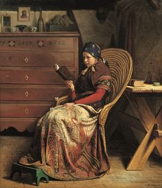 Young Woman Reading (1863). Christen Dalsgaard (Danish, 1824-1907). Oil on paper. Hirschsprung Collection. Dalsgaard, like his contemporaries Julius Exner and Frederik Vermehren, painted primarily...