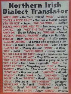 Being irish! Northern Irish dialect translation Do the Irish in Northern Ireland really speak like this??