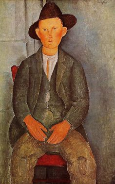The Little Peasant Amedeo Modigliani (1918) Tate Britain - London Painting - oil on canvas