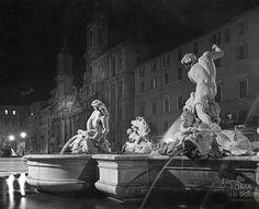 Piazza Navona (1939) Piazza Navona, Greek, Statue, Painting, Art, Italia, Rome, Fotografia, Art Background