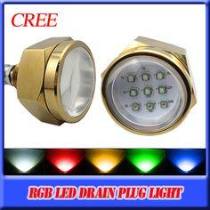 Royel Blue 9 LED light Boat Blue Underwater Light /& Drain Plug 12V IP68 Superb