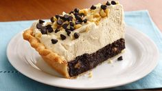 Mile High Peanut Butter Brownie Pie