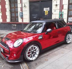 Red hot You shine Mini Cooper Custom, Mini Cooper Sport, Red Mini Cooper, Mini Clubman, Mini Countryman, My Dream Car, Dream Cars, Dream Life, Fancy Cars