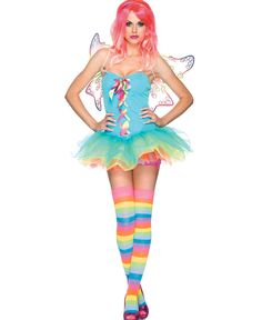 Rainbow Fairy 83917 - Leg Avenue #rainbowfairycostume #fairycostume #csam #tot #costumestoreandmore #trickortreathalloween
