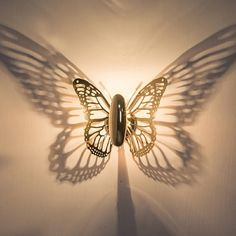 Horsten New Creative LED Wall Lamp Butterfly Lampshade Projection Shadow Wall Light Gold Butterfly Wall Sconce For Home Cafe Bathroom Wall Lights, Led Wall Lamp, Wall Sconces, Mirror Bathroom, Outdoor Wall Lighting, Sconce Lighting, Led Light Fixtures, Light Led, Moroccan Lamp