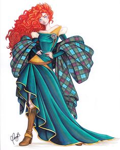 Unique and Creative + Concepts For A Disney Cartoon-Of-The-Artwork In Merida - Stunning + Concepts For A Disney Carto. Disney Pixar, Film Disney, Disney Animation, Disney And Dreamworks, Disney Magic, Disney Characters, Merida Disney, Face Characters, Brave Merida