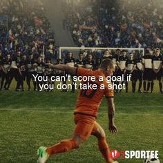 You can't score a goal if you don't take a shot  #Soccer #Football #bolakaki #sepakbola #indonesia #indonesian #motivasi #quote #quotes #quoteoftheday #quotedaily #quotegram  #quoteringsek #yangterdalam #motivasihidup #quotestoliveby #quotestags #quoted #quotesoftheday #quotesandsayings #quotesaboutlife  #quotesofinstagram #quotesforyou #quotesoflife #quoteofday  #quotefortheday #quoteoftheweek #quotegram #gosportee #gosporteeindonesia by @gosportee via http://ift.tt/1RAKbXL