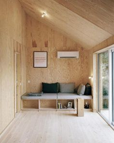 plywood walls - House Morran - a renovated cottage sheathed in black pine tar-coated plywood near Gothenburg, Sweden by Johannes Norlander Arkitektur Photos by Rasmus Norlander Plywood House, Plywood Walls, Plywood Furniture, Pine Plywood, Plywood Ceiling, Plywood Kitchen, Furniture Design, Chair Design, Modern Furniture