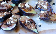 Grilled Figs with Balsamic Glaze and Goat Cheese via @Against All Grain (Danielle)