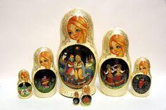 Russian Matryoshka 7pcs King Saltan Exclusive by EtsyGrail on Etsy