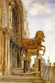 Henry Roderick Newman (1843-1917), Horses of St. Mark in Venice