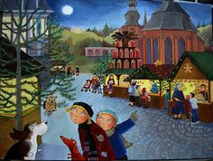 Nancy Cote Author/Illustrator of Children's Books: The Making of the Painting Christmas Market in Germany