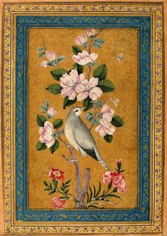 Author: Yusuf Zaman. Miniatures, Gouache, 14.2x8.6 cm. Origin: Iran, Between 1696 and 1697. Album: Album of Polovtsov. Source of entry: Museum of the Stieglitz School, 1924. School: Isfahan.