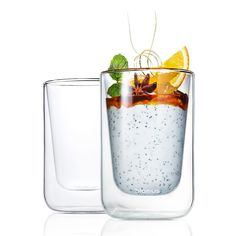 Nero Double Wall Cappuccino/Tea Glass 2-Pcs $34. - RoyalDesign.com