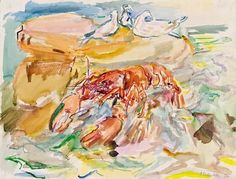 Oskar Kokoschka, Still Life with Lobster and Sea-gull, 1942