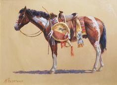 Oglala War Horse - Oil by Mike Desatnick Westerns, Southwest Art, Western Art, Indiana, Nativity, Camel, Native American, Moose Art, War