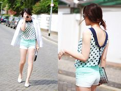 Minty Summer (by Lini Trinh) http://lookbook.nu/look/3508053-Minty-Summer