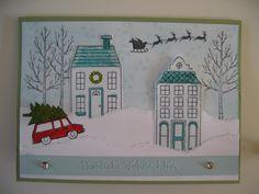 stampin up Christmas x-mas Card Stamps : White Christmas , Holiday Home…