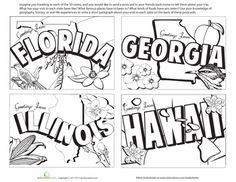 Printable Map of The USA....also color versions and other