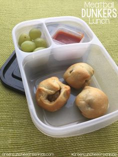 Meatball Dunkers Lunch from Green Lunches, Green Kids
