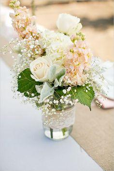 mason jar floral romantic reception wedding flowers,  wedding decor, wedding flower centerpiece, wedding flower arrangement, add pic source on comment and we will update it. www.myfloweraffair.com can create this beautiful wedding flower look.