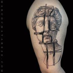 Sculpture. Marco C. Matarese tattoo | Etching, linework, engraving. Milan, Italy. #purotattoostudio #marcocmatarese #matarese #incisione #etching #engraving #drawing #lines #blackwork #milano #milan #tatuage #ink #tattoo #tattooist #nero #tatuatore #linework #blackart #acquaforte #blackline #tattooideas #inktattoo #black #crossetching #sculpture #arm