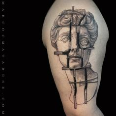 Sculpture. Marco C. Matarese tattoo | Etching, linework, engraving. Milan, Italy. #purotattoostudio #marcocmatarese #matarese #incisione #etching #engraving #drawing #lines #blackwork #milano #milan #tatuage #ink #tattoo #tattooist #nero #tatuatore #linework #blackart #acquaforte #blackline #tattooideas #inktattoo #black #crossetching #sculpture #arm